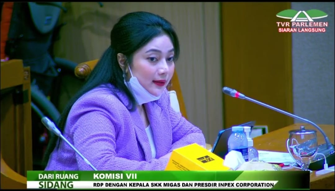 Screenshot Video Anggota Komisi VII DPR, Paramitha Widya Kusuma
