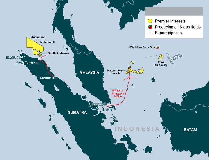 premier oil di indonesia