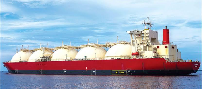 Ilustrasi kapal tanker pembawa LNG