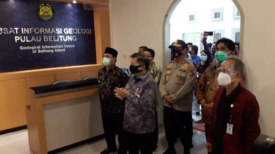 Peresmian Pusat Informasi Geologi di Belitung