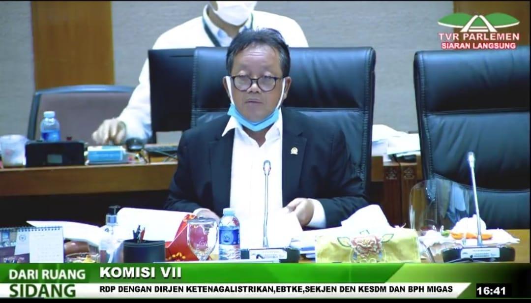 Ketua Komisi VII DPR Sugeng Suparwoto