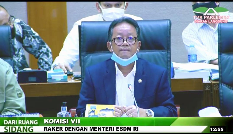Screenshot video Ketua Komisi VII DPR RI, Sugeng Suparwoto