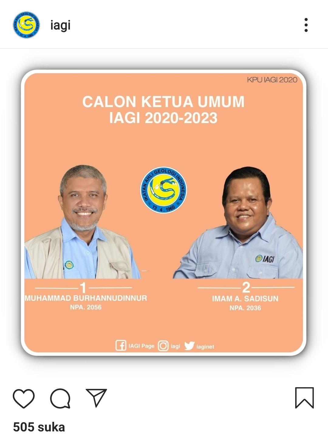 Calon ketua umum IAGI 2020-2023
