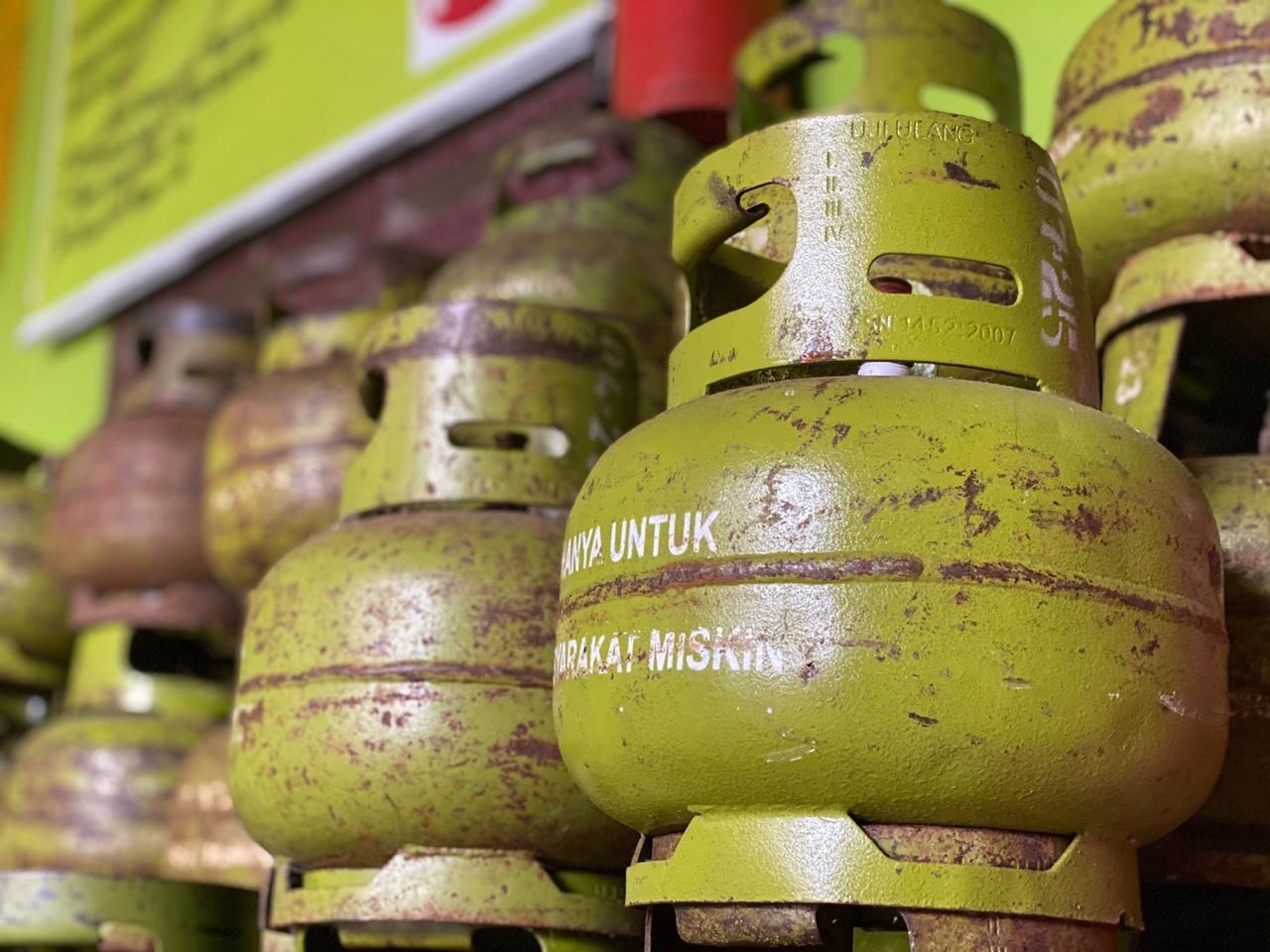 LPG 3 Kg yang ada di Agen Joko Wiyono Kota Bengkulu