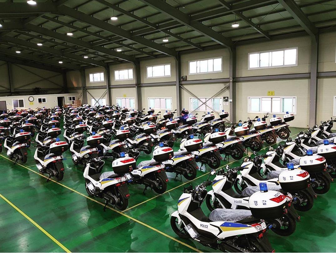 Produksi Motor Listrik U tuk Kepolisian Korea Selatan