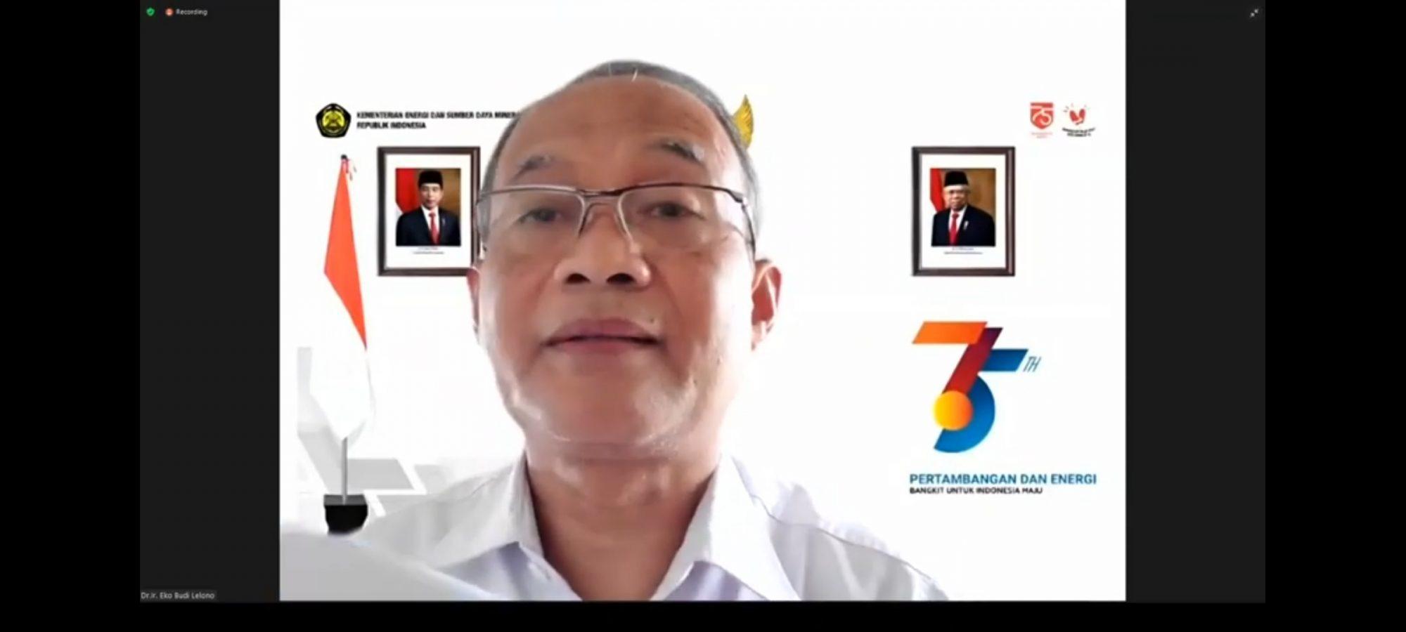 Eko Budi Lelono, kepala badan geologi kementerian ESDM