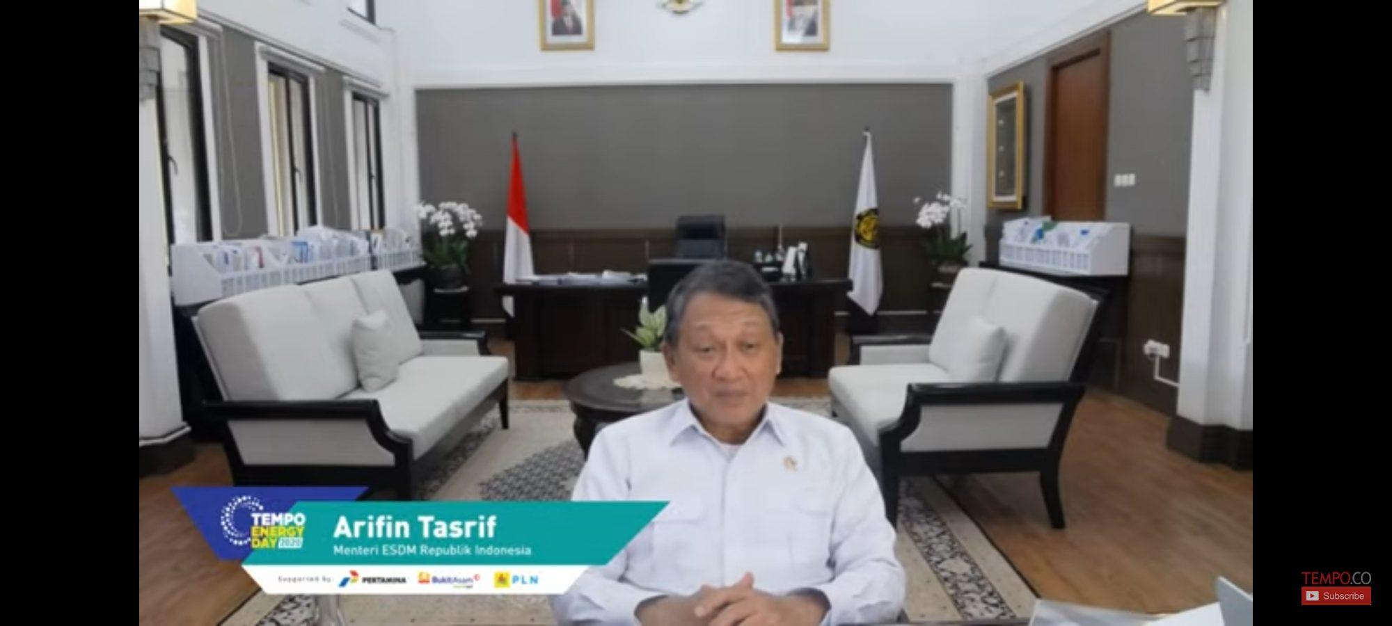 Menteri ESDM Arifin Tasrif