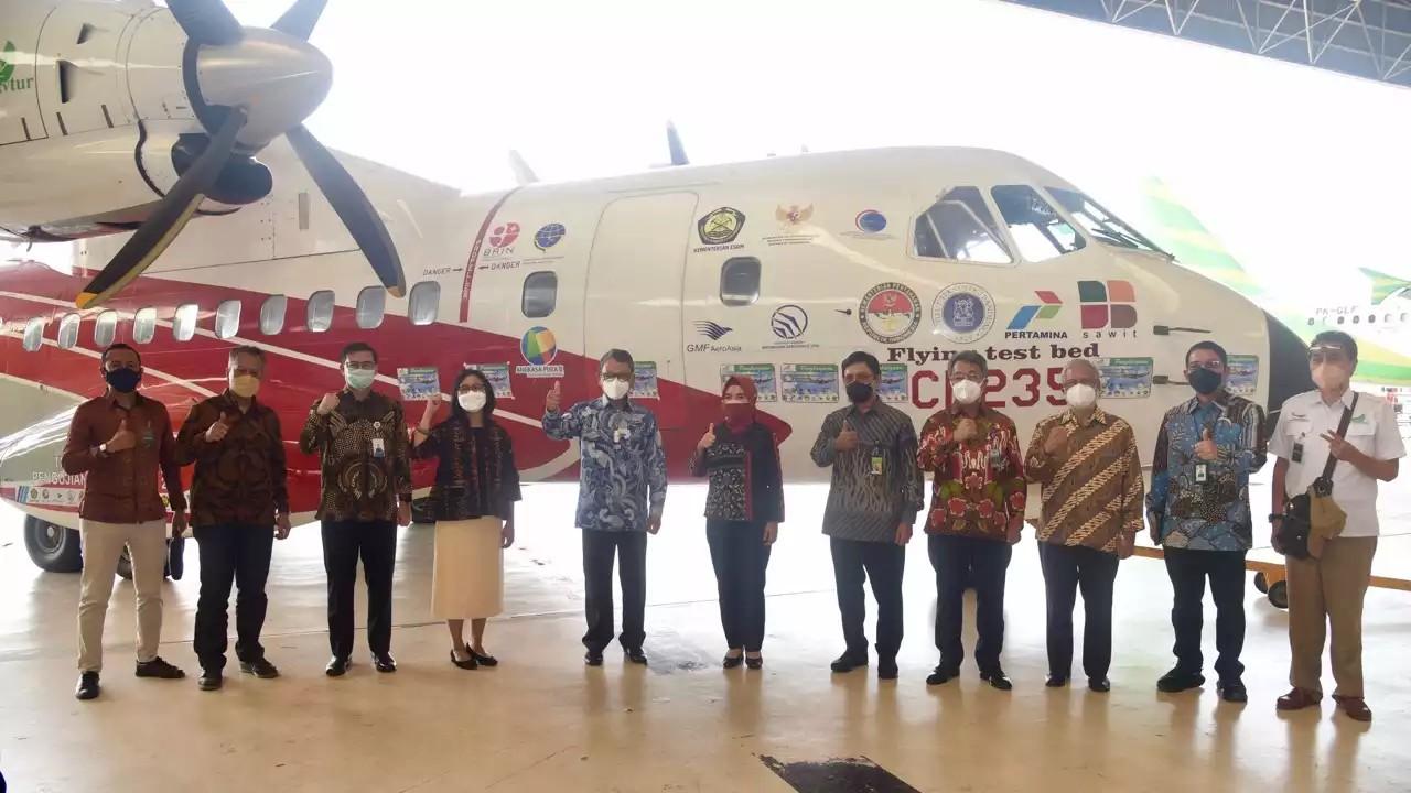 Seremonial Uji Coba Pesawat berbahan bakar Bioavtur
